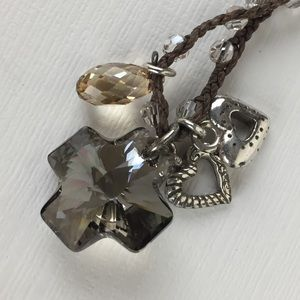 Jewelry - Brighton Crystal Cross Charm Necklace